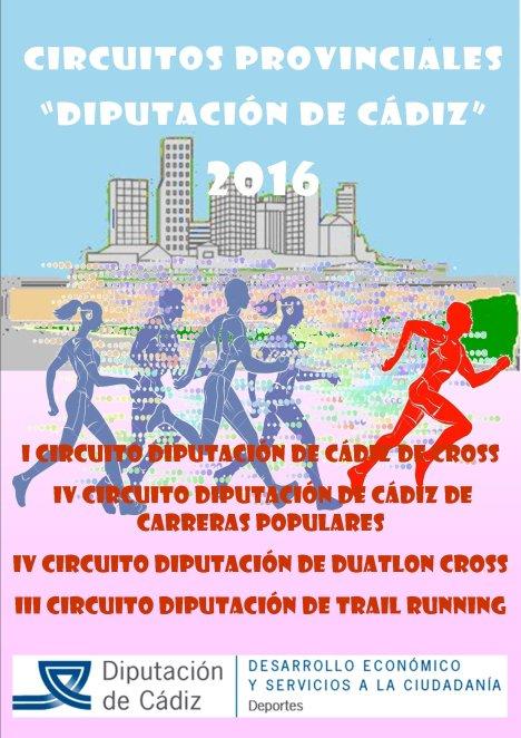 Cartel Circuitos Diputacion de Cadiz 2016